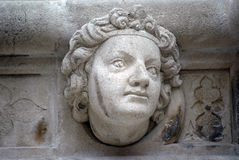 古色古香的浅浮雕,圣詹姆斯大教堂,希贝尼克 免版税库存照片
