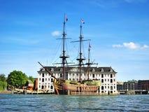 古色古香的海盗船 库存照片