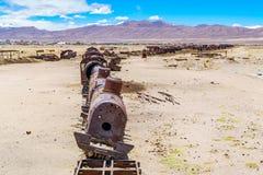 古色古香的火车公墓 库存照片