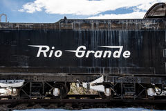 古色古香的火车里约格朗德 免版税图库摄影