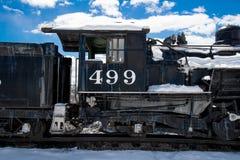 古色古香的火车里约格朗德 库存图片