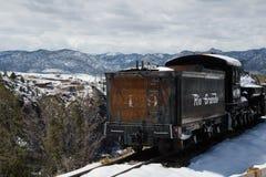 古色古香的火车里约格朗德 库存照片