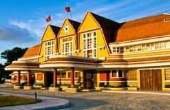 古色古香的火车tranport游人参观的,大叻,越南 库存照片