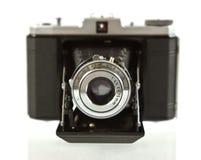 古色古香的照相机折叠的格式前媒体&# 免版税库存照片