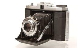 古色古香的照相机折叠的格式媒体 免版税图库摄影