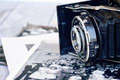 古色古香的照相机照片 免版税图库摄影