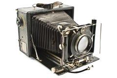 古色古香的照相机老照片 免版税库存照片