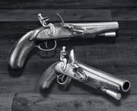 古色古香的燧发枪手枪 图库摄影
