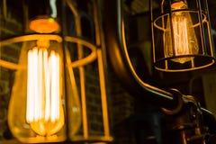 古色古香的爱迪生电灯泡 库存照片