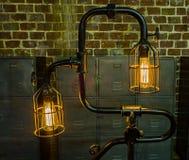 古色古香的爱迪生电灯泡 库存图片