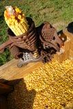古色古香的玉米脱壳器 库存图片