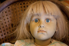 古色古香的玩偶细节 免版税图库摄影