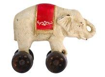 古色古香的玩具大象 免版税库存照片