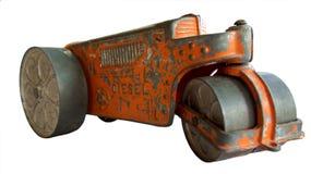 古色古香的玩具拖拉机压路机 图库摄影