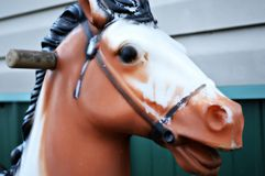 古色古香的玩具骑乘马 免版税库存照片