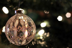 古色古香的球圣诞节玻璃 免版税库存图片