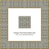 古色古香的瓦片框架样式set_395曲线螺旋万花筒 皇族释放例证
