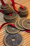 古色古香的瓷中国人硬币 免版税库存图片