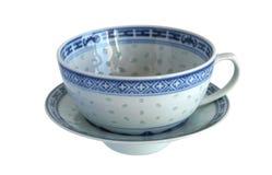古色古香的瓷茶杯米五谷 库存图片