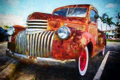 古色古香的生锈的卡车 免版税库存照片