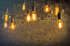 古色古香的电灯泡 库存图片