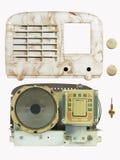 古色古香的电胶收音机分开05 免版税库存图片