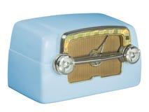 古色古香的电胶管收音机07蓝色 免版税库存照片