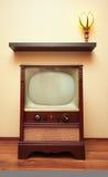 古色古香的电视 免版税库存照片