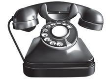 古色古香的电话 库存例证