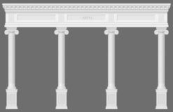 古色古香的白色柱廊 库存例证