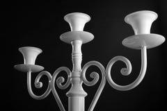 古色古香的白色烛台 库存图片