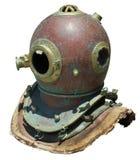 古色古香的盔甲水肺 免版税库存照片