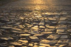 古色古香的砖街道 免版税库存照片