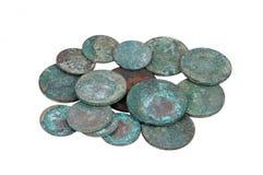 古色古香的硬币俄语 库存照片