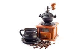 古色古香的磨咖啡器 库存照片