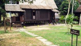 古色古香的种族马来人Pulau Pinang房子 免版税图库摄影