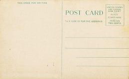 古色古香的空白明信片 库存照片