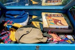 古色古香的童子军值得纪念的事待售 免版税库存照片