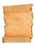 古色古香的纸滚动 免版税库存照片