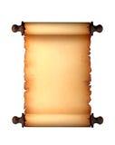 古色古香的纸滚动 免版税图库摄影