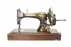 古色古香的缝合机器 免版税库存图片