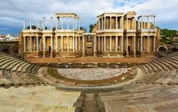 古色古香的罗马剧院在梅里达 库存图片