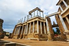 古色古香的罗马剧院 梅里达,西班牙 库存照片