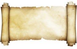 古色古香的羊皮纸纸卷 库存照片