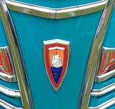 古色古香的美国汽车前面细节 免版税库存照片
