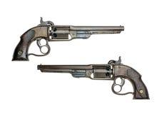 古色古香的美国野蛮撞击声左轮手枪 免版税图库摄影