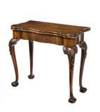 古色古香的老桃花心木打牌用之轻便小桌 免版税库存照片
