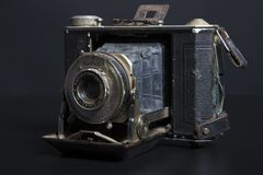 古色古香的老照相机 免版税库存图片