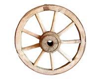 古色古香的老马车车轮 免版税库存图片