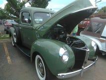 古色古香的肌肉车展伊莎贝拉岛Puerto 免版税库存图片
